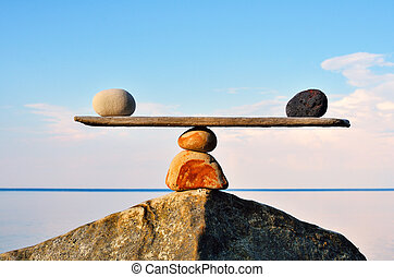 Zen Balance - Balancing of pebbles on the top of stone