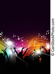 Music Party Event - abstract party music background for...