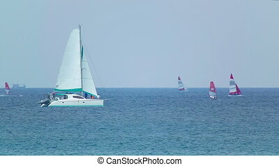 Regatta - Sailors competitions near Phuket island, Thailand