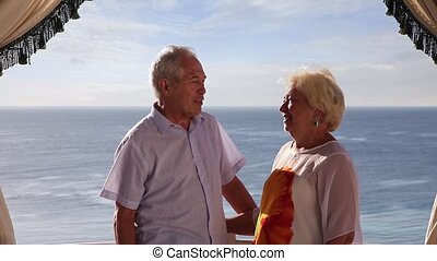 Senior couple on vacation - Senior couple enjoying their...