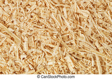 Sawdust  - Background of wooden shavings and sawdust