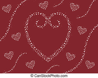 heart sparkle red background