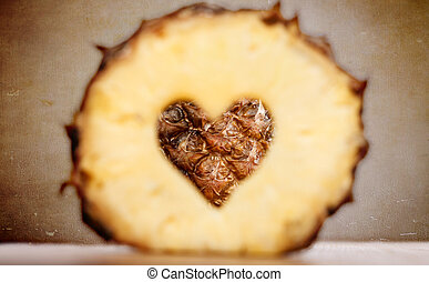 pinapple with heart