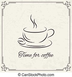 Coffee design for menu - Coffee design with old vintage...