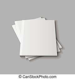 Blank empty magazine template - Blank empty magazine or book...