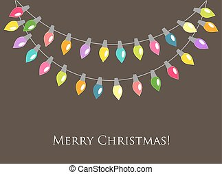 Christmas lights background Vector illustration