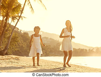 mother and daughter happy in love a