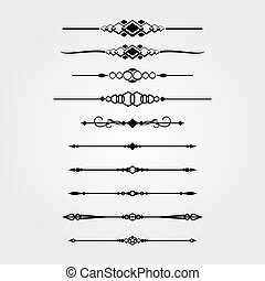 Decorative Dividers & Lines Set