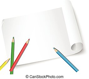 sheet of paper and pencils