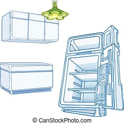 kitchen furniture - The illustration shows some kitchen...
