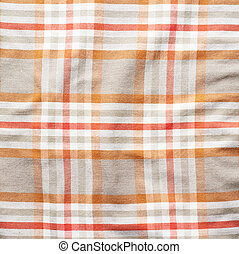 Squared striped shirt material fragment - Creased squared...