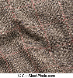 Tweed jacket fragment - Creased tweed striped jacket cloth...