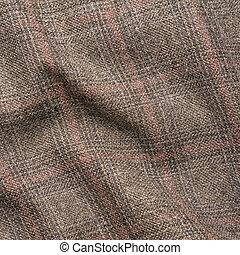 Tweed jacket fragment - Creased tweed striped jacket cloth...