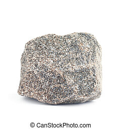 Granite stone isolated over the white background