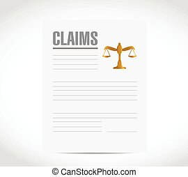 claim contract document illustration design over a white...