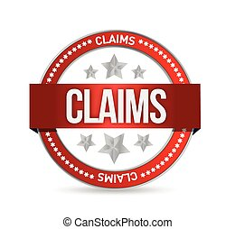 claims seal illustration design