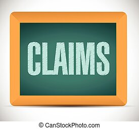 claims board sign illustration design over a white...