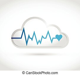 lifeline white cloud illustration design