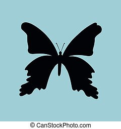 butterfly silhouette design, vector illustration eps10...