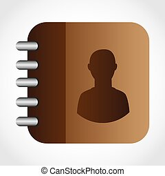 contacts book design, vector illustration eps10 graphic