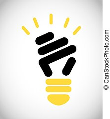 bulb light design, vector illustration eps10 graphic