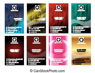 Abstract Various 8 Business Card