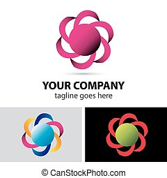 Abstract loop logo element