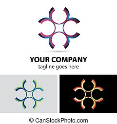 Vector logo element abstract