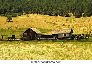 Historic Homestead - A historic homestead in Colorado United...