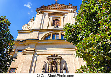 Church of Our Lady Victorious in Mala Strana - The facade of...