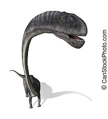 Omeisaurus Dinosaur From Above - The Omeisaurus was a very...