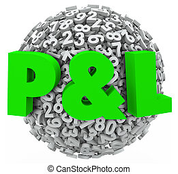 P and L Profit Loss Numbers Budget Income Revenue Figures -...