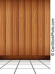 A wall - A wooden wall