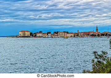 Croatian sea: Istrian coast - Sea view near Porec in Croatia