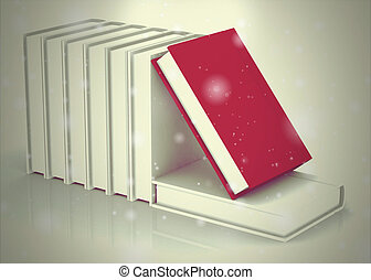 Book on white background high resolution 3D image