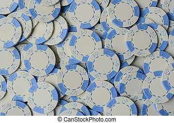 Blue Poker Chip Background