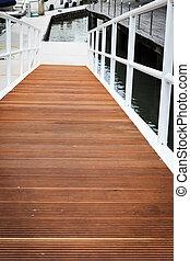 Wood plank walkway