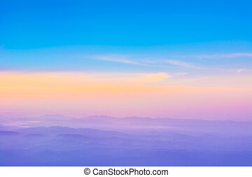 Colorful sky after the sunset. Natural Sky Background. -...