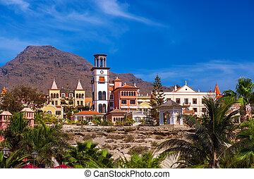 playa, Las, Américas, en, Tenerife, isla, -, canario,...