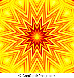 Yellow-red star abstract background - Yellow-red star...