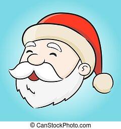 Santa Klaus - Vector illustration of Santa Claus face.