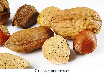Walnut almond and hazelnut
