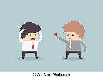 Businessman get fired