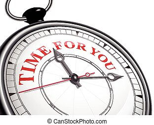time for you concept clock
