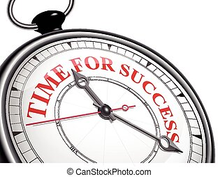 time for success concept clock