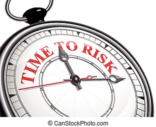 time to risk concept clock