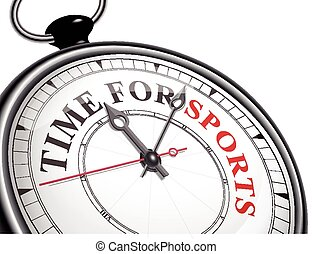 time for sports concept clock isolated on white background