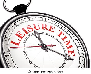 leisure time concept clock isolated on white background