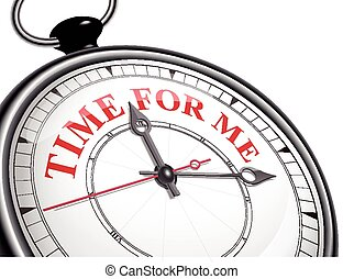 time for me concept clock