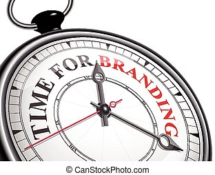 time for branding concept clock